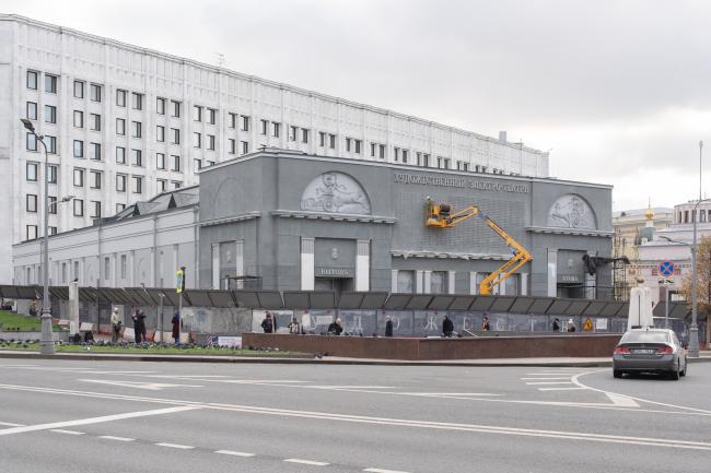Фасад к/т «Художественный» после реставрации, 2020