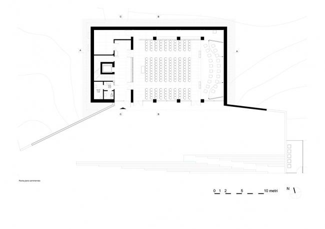 План первого этажа. Академия музыки в Камерино
