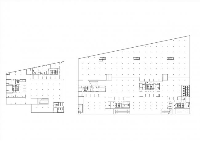 План -1 этажа. Комплексы В3 и А5 жилого квартала «Спутник»