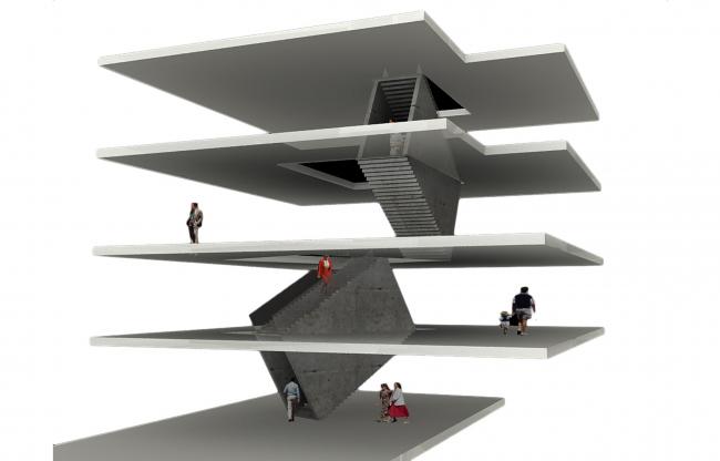 Галерея RuArts. Схема построения внутреннего пространства