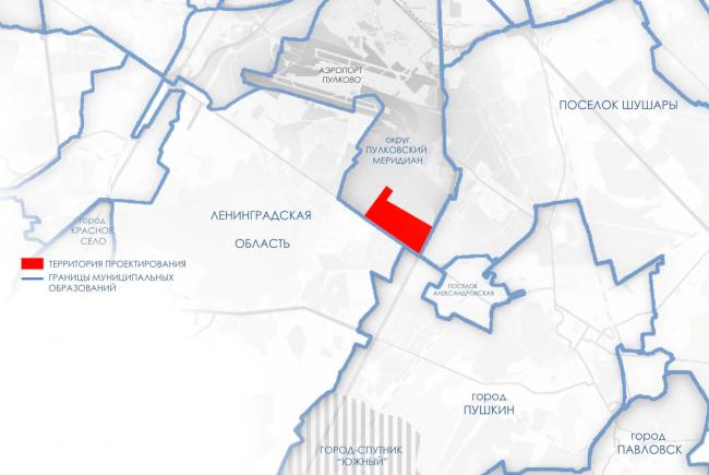 Окружение. Проект планировки территории района у Пулковских высот
