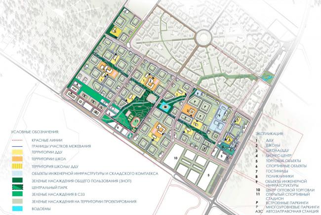 Генеральный план. Проект планировки территории района у Пулковских высот