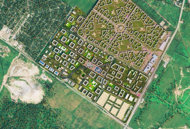 Проект планировки территории района у Пулковских высот