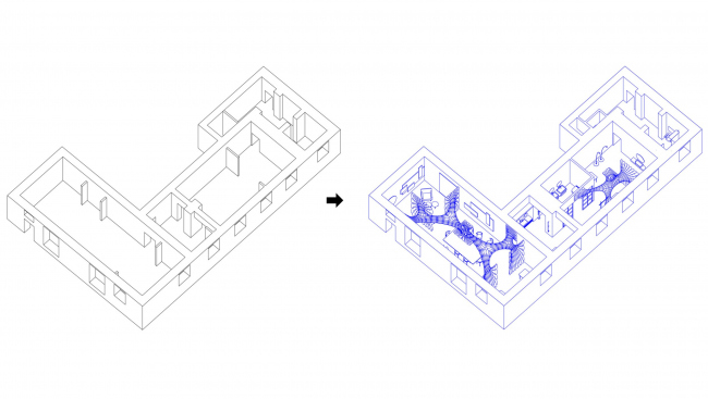 До и после. Шоурум Crane Design