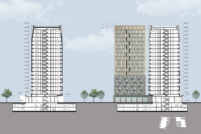 """Section 1-1.  Residential complex """"In the heart of Pushkino"""""""