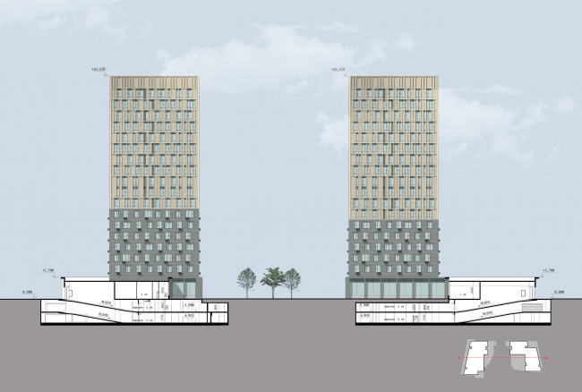 """Section 2-2.  Residential complex """"In the heart of Pushkino"""""""