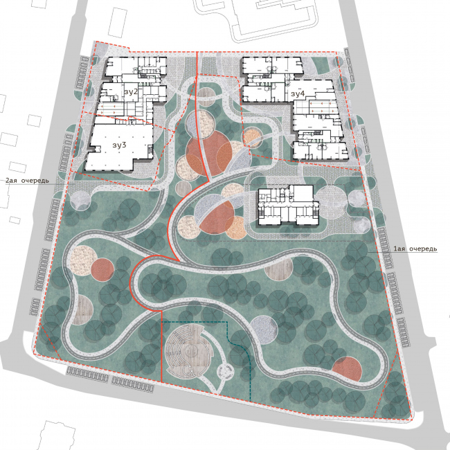 """General plan.  Residential complex """"In the heart of Pushkino"""""""