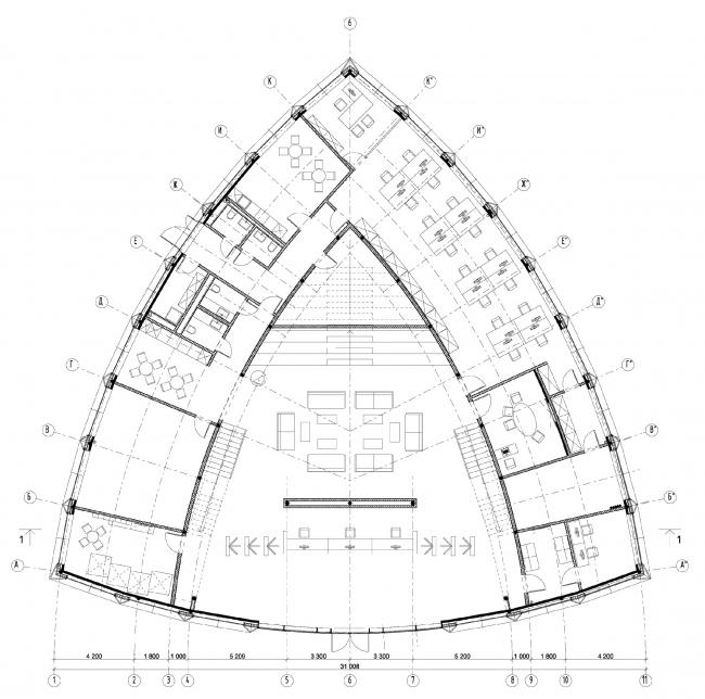 План 1-го этажа. Офис продаж ЖК «Переделкино ближнее»