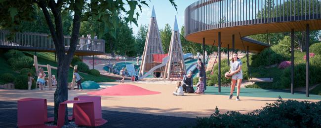 The playground. HIDE Housing Complex