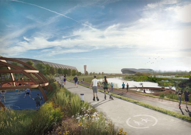 Спортивный парк. Стратегия развития прибрежных территории реки Казанки 2020–2030