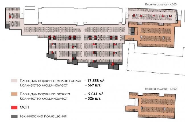 1. Жилой комплекс со встроенными коммерческими  помещениями и подземной автостоянкой. Подземный паркинг. ЖК на Синопской набережной