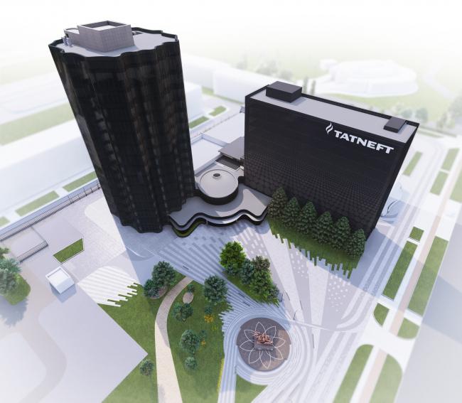 Штаб-квартира ПАО «Татнефть» после реконструкции. Комплекс ПАО «Татнефть»