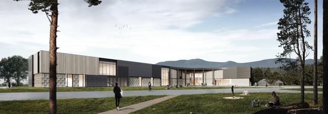 Школа в поселке Бурабай, 3D-визуализация