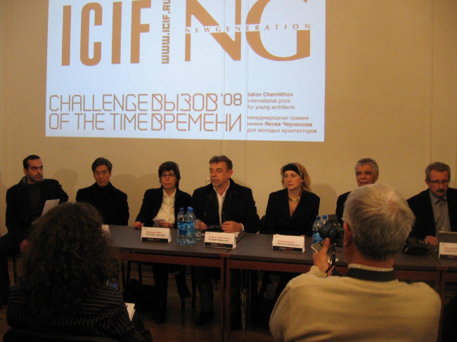 Слева: Макота Сей Ватанабе,   Элизабет Диллер, Андрей Чернихов, Ирина Коробьина, Рикардо Скофидио, Георги Станишев.