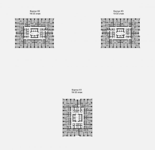 Корпус 1-3. Типовой этаж