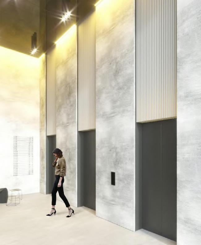 Останкино Business Park. Лифтовой холл. Корпус 1-4 / вариант 2020