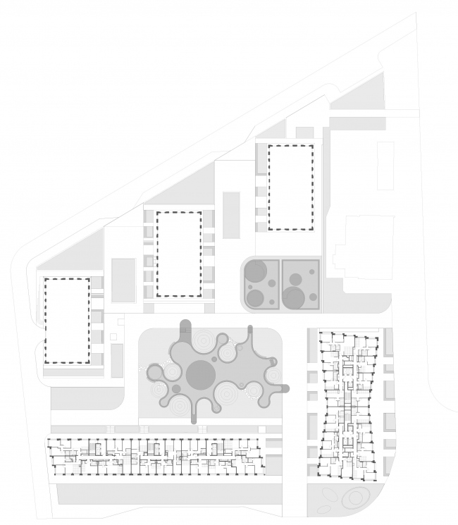 The master plan. Discovery housing complex