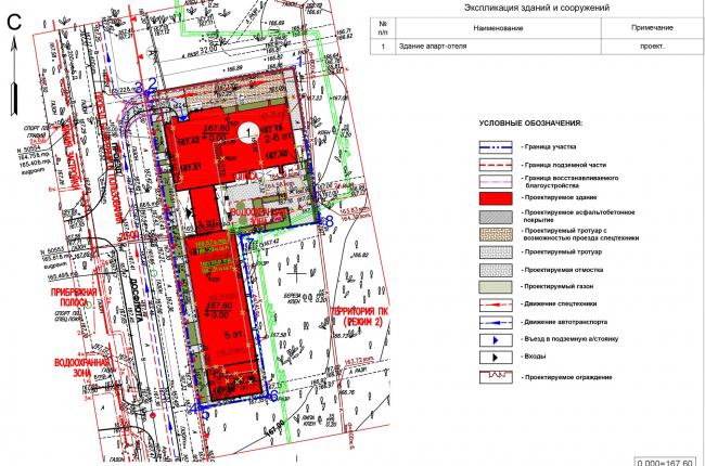 Дом «Пароход». Схема планировочной организации земельного участка