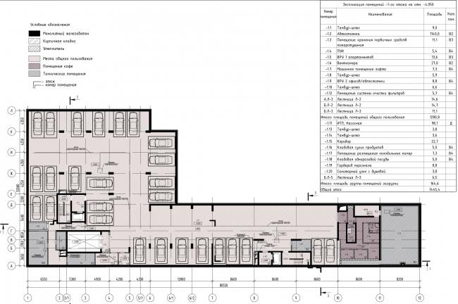 Дом «Пароход». План -1 этаж