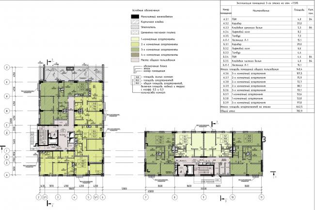 Дом «Пароход». План 3 этаж