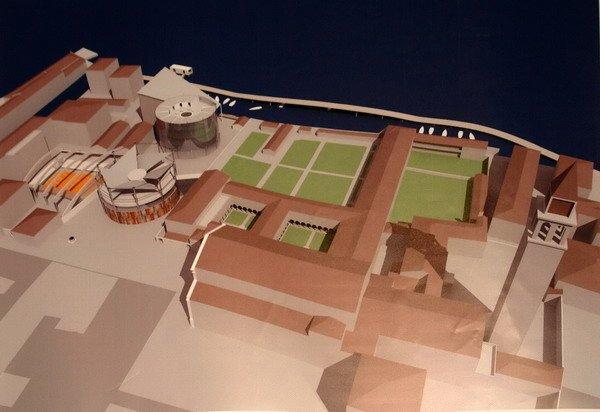 Экуменическая библиотека монастыря Сан-Франческо. Проект реконструкции газгольдера. Арх. Марино Алессандри