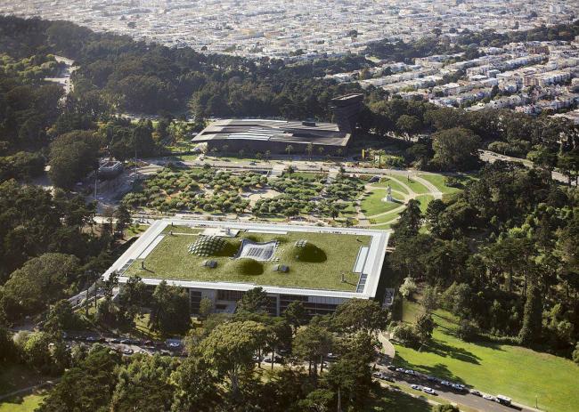 Калифорнийская Академия наук. На заднем плане - Музей Де Янг © Tim Griffith