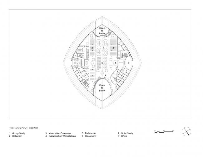 План четвертого этажа. Здание студенческого союза имени Мори Хоссейни