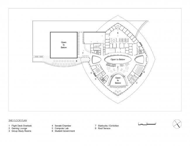 План второго этажа. Здание студенческого союза имени Мори Хоссейни