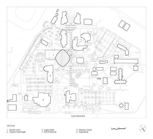 План участка. Здание студенческого союза имени Мори Хоссейни
