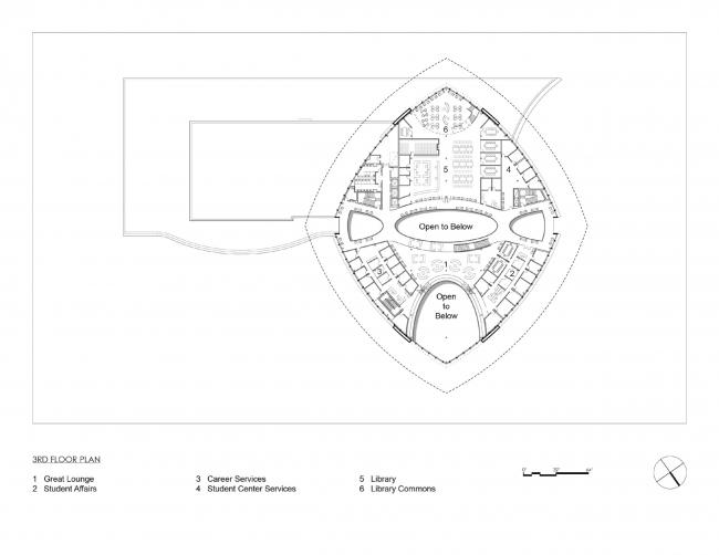 План третьего этажа. Здание студенческого союза имени Мори Хоссейни
