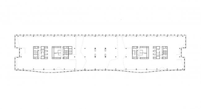 План 3 этажа. БЦ Alcon II на Ленинградском проспекте