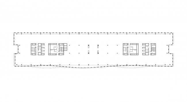 План 5 этажа. БЦ Alcon II на Ленинградском проспекте