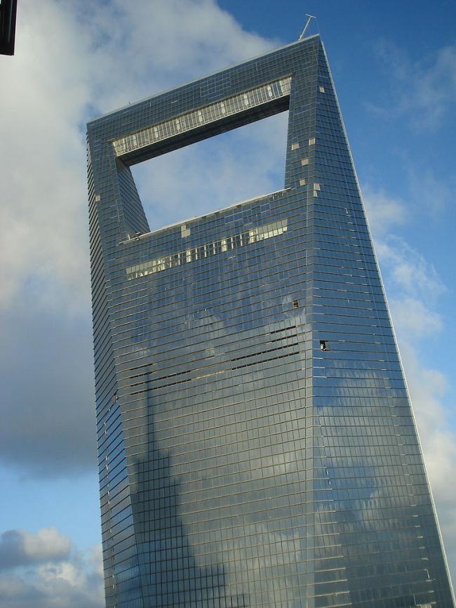 Шанхайский Всемирный финансовый центр. Фото: Erwin via Wikimedia Commons. Лицензия GNU Free Documentation License, Version 1.2