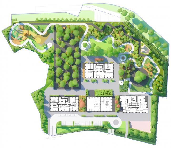 The masterplan. HIDE Housing Complex