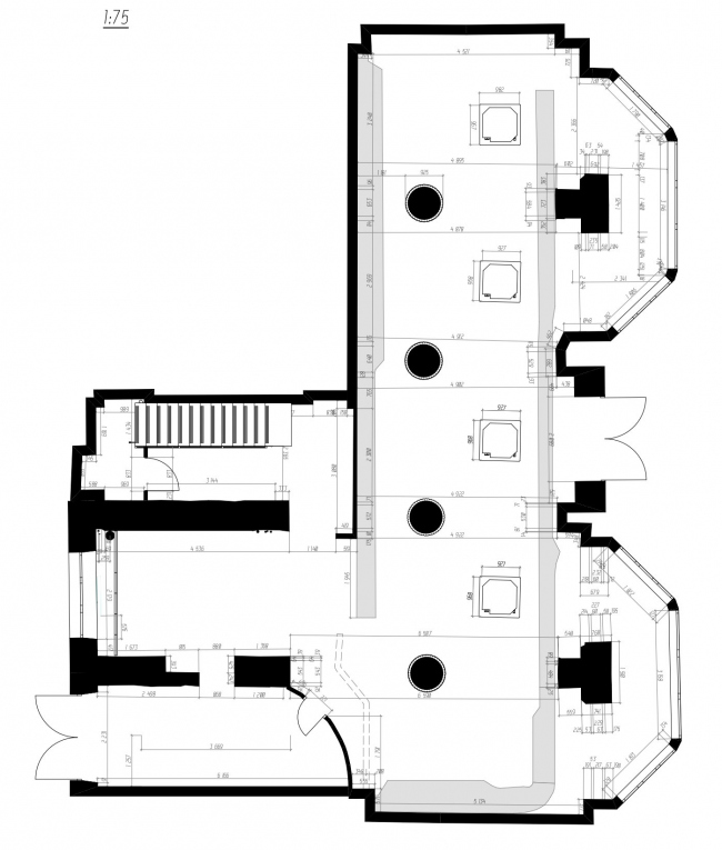 План 1 этажа. Ресторан современной мексиканской кухни tacobar