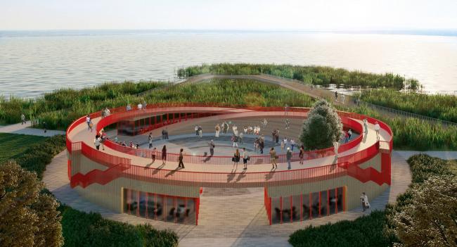 Площадь, лето. Архитектурная концепция благоустройства набережной озера Смолино