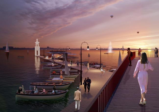 Ресторан на воде. Архитектурная концепция благоустройства набережной озера Смолино
