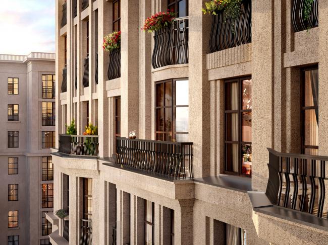 Section 3, balconies of the top floors. ID Moskovskiy