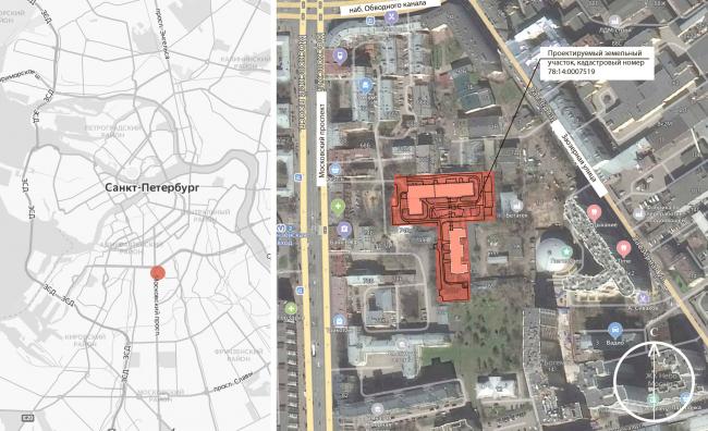 Location plan. ID Moskovskiy