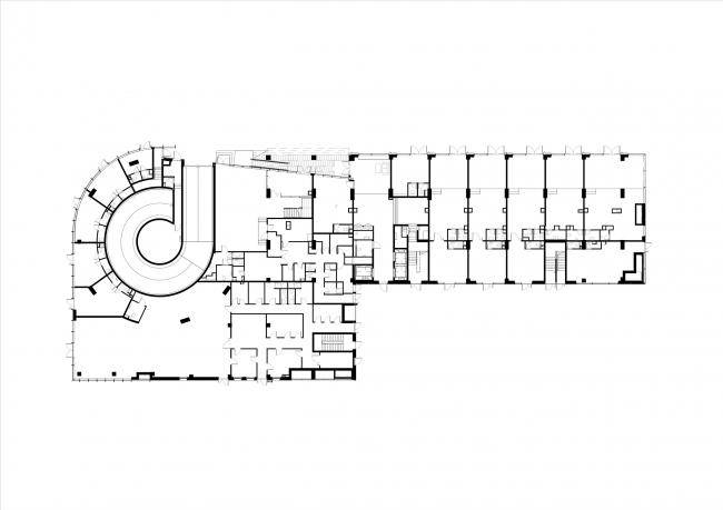 Комплекс апартаментов Story. План первого этажа