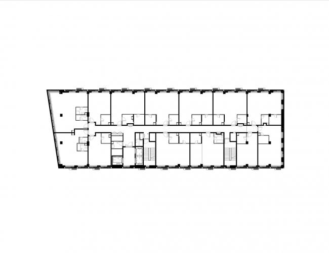 Комплекс апартаментов Story. План девятого этажа