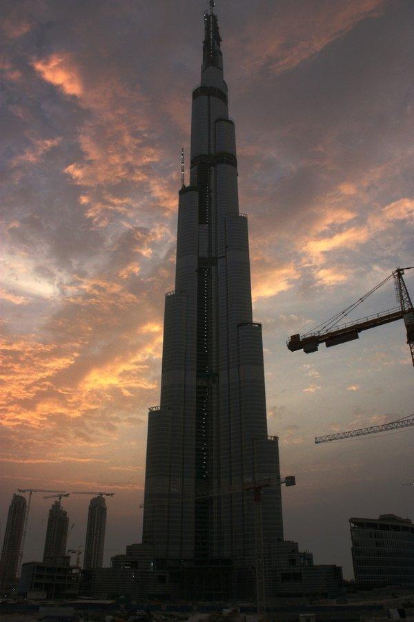 «Бурж Дубай». Фото лето 2008