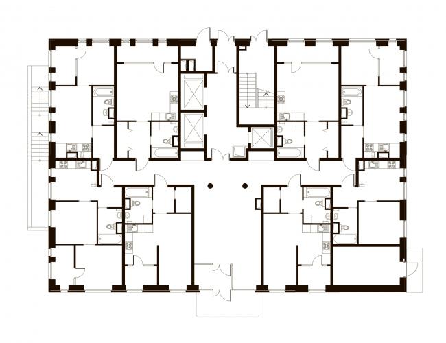 Корпус 7, план 1 этажа. Жилой комплекс «Эдальго»