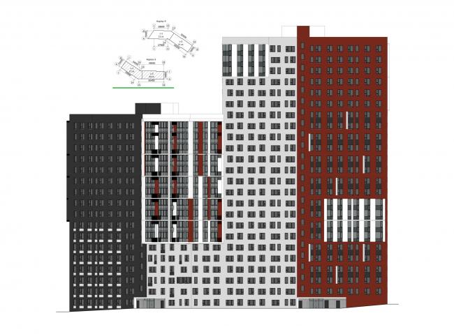 Корпус 3. Фасады. Жилой комплекс «Новая звезда»