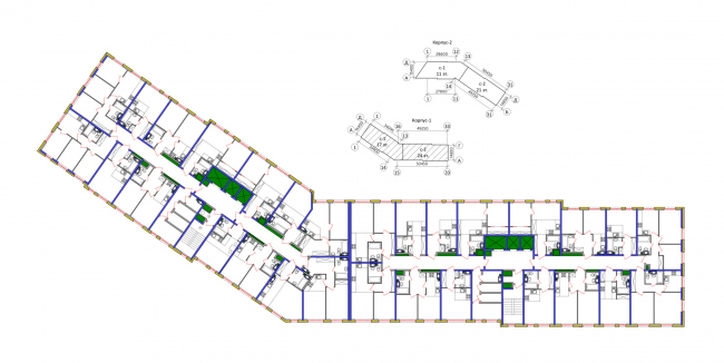 Корпус 1, план 3-4 этажей. Жилой комплекс «Новая звезда»