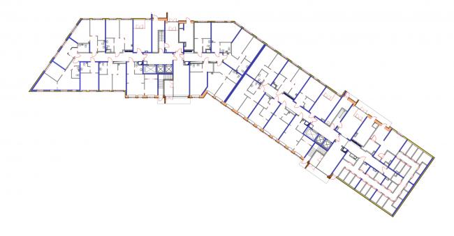 Корпус 2, план 1 этажа. Жилой комплекс «Новая звезда»
