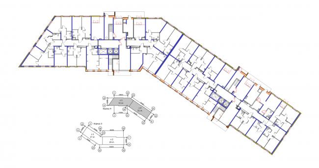 Корпус 4, план 1 этажа. Жилой комплекс «Новая звезда»
