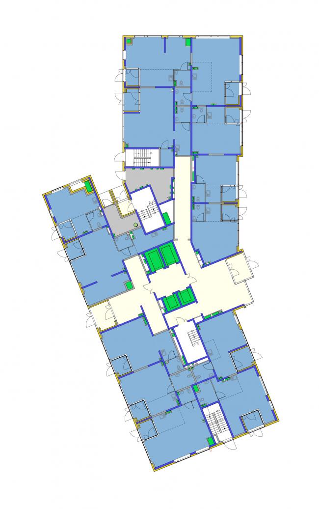 Корпус 5, план 1 этажа. Жилой комплекс «Новая звезда»