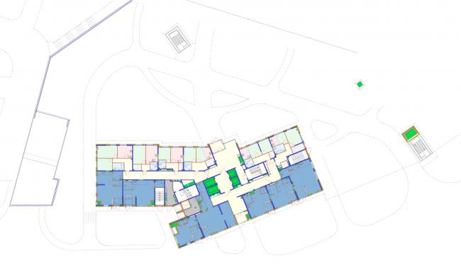 Корпус 6, план 1 этажа. Жилой комплекс «Новая звезда»