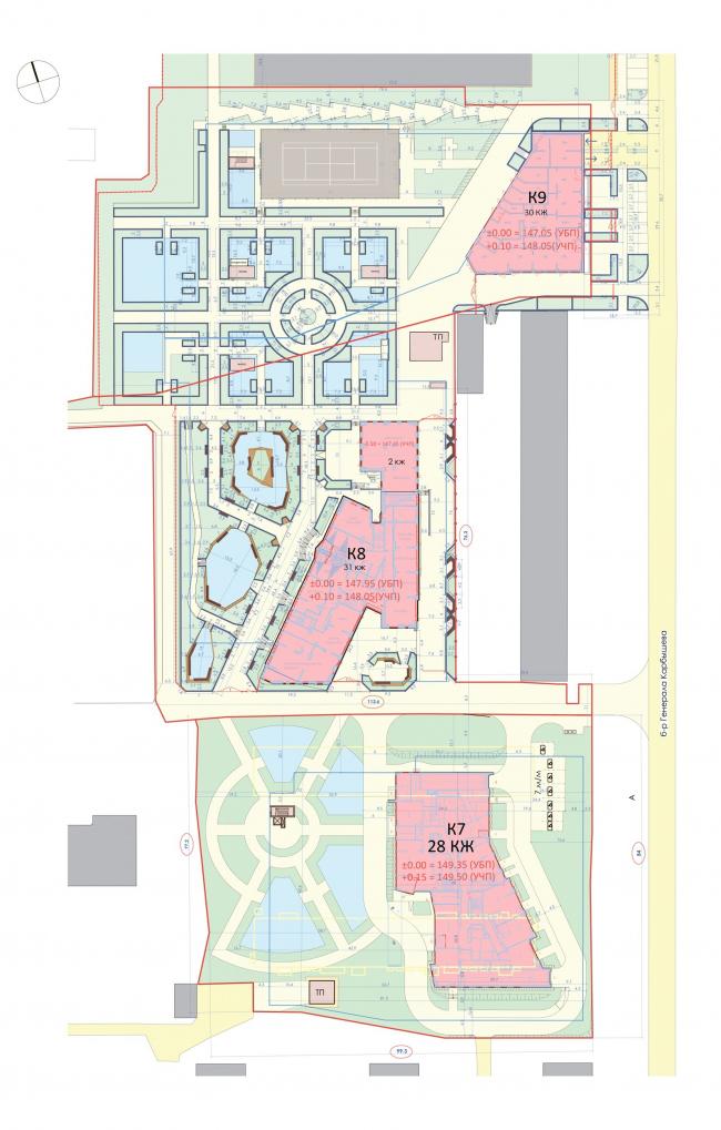 Ситуационный план. Жилой квартал «Юнион Парк»